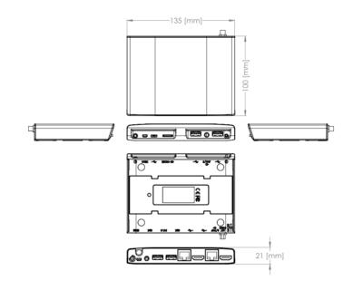Utilite ARM based micro PC - mechaninal drawings - CompuLab Nordic
