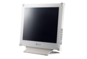 "AG Neovo X-15W - 15 ""hard-wearing display in white metal case, power-saving EcoSwitch feature, NeoV optical glass - front view - CompuLab Nordic"