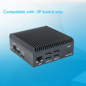 Fanless Aluminium chassis for Up Board - including VESA mounting bracket