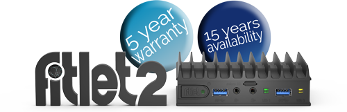 fitlet2 serien - stilfuldt designede og økonomiske mini PC'er til krævende IoT applikationer